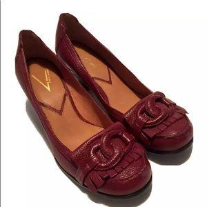 Vince Camuto Leather Kiltie Pumps Shoes 6.5